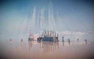 """Paysage extrait du jeu vidéo """"Path to Thalamus"""", 2015"""
