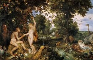 Pieter Brughel le Jeune, Adam et Eve au paradis, 1610, Mauristhuis