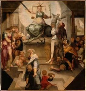 Anonyme flamand, Allégorie de Justice, XVIe siècle, Lille, musée des beaux-arts