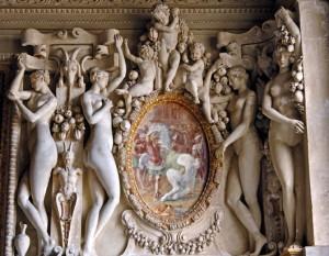 Caryatides entourant une fresque de Primatice,1541-1544, Fontainebleau