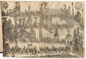 Entrée d'Henri IV à Lyon, gravure de Perrissin