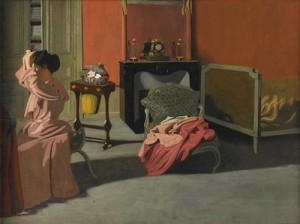 Félix Vallotton, Femme se coiffant, 1900, Orsay