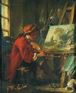 François Boucher, Le Peintre de paysage, Paris, Louvre