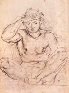 Jacopo Pontormo, Etude pour Vertumne et Pomone, 1519