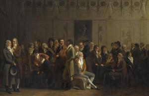 Louis Léopold Boilly, Réunion d'artistes dans l'atelier d'Isabey, 1798, huile sur toile, 71 x 111 cm, Paris, musée du Louvre