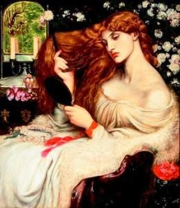 Dante Gabriel Rossetti, Lilith, 1866-1868, Delaware Art Museum