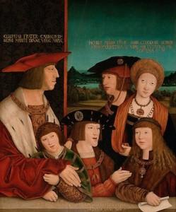 Bernhard Striegel, La Famille Habsburgs, 1516, Vienne