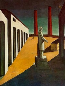 Giorgio de Chirico, L'Enigme d'un jour, 1914, MOMA