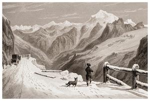 Illustration du Passage des Alpes, Londres, 1828
