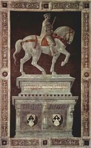 Paolo Uccello, Monument équestre de sir John Hawkwood, 1436, Florence, Cathédrale Santa Maria del Fiore