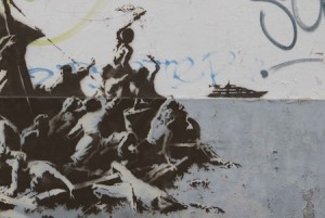 Bansky, Fresque sur un mur de Calais, 2015