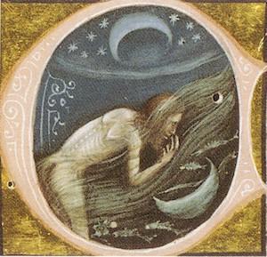 Bartolomeo Bartoli, Lucius reprend forme humaine, Métamorphoses d'Apulée, chap. 65. Manuscrit Vat. Lat. 2194, Rome, Biblioteca Apostolica Vaticana