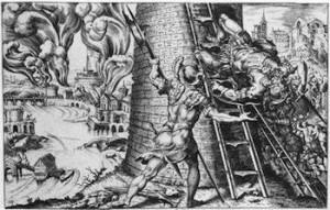 Copie d'après Martin van Heemskerck, Le sac de Rome, 6 mai 1527, 1555),