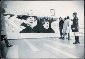 Ivan Messac, Tiraillés, 1969, fresque-sur-papier, Université de Nanterre