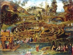 Lodovico Pozzoserrato (Toeput), Jardin de plaisir avec un labyrinthe, 1579-1584, Londres