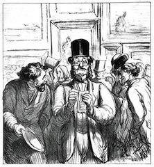 honore-daumier-la-promenade-du-critique-dart-influent-1865-lithographie