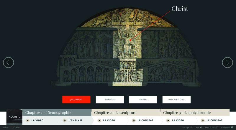 Webdocumentaire sur le portail de l'abbatiale Sainte-Foy de Conques