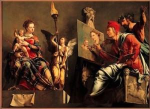 maarten-van-heemskerck-saint-luc-peignant-la-vierge-1532