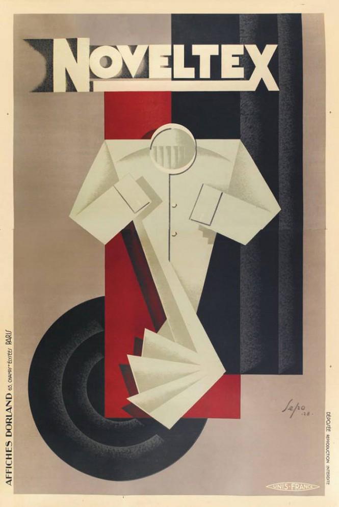 Severo Pozzati dit Sepo, affiche pour Noveltex