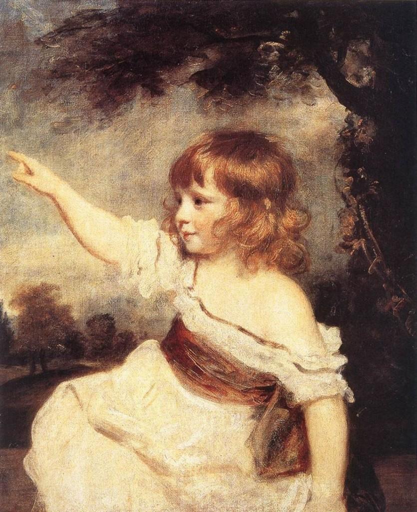 Joshua Reynolds, Master Hare,1788, Paris, musée du Louvre, legs Alphonse de Rothschild