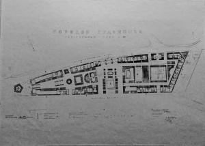 Fig. 4. Plan général de la « Cité des artistes », projet approuvé par le Conseil de la ville de Moscou, Album de l'Union des artistes, © Archives du MOSSKh.