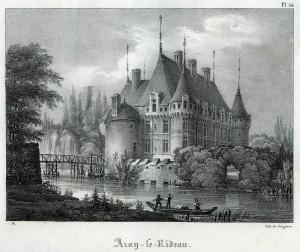 Fig. 2. P. Langlumé, Azay-le-Rideau, 1824, lithographie, 10 x 15 cm © G. Guilpain.