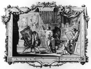 Ill.: Carl Heinrich von Heinecken, Recueil d'estampes, Dresde 1757, t.2, frontispice