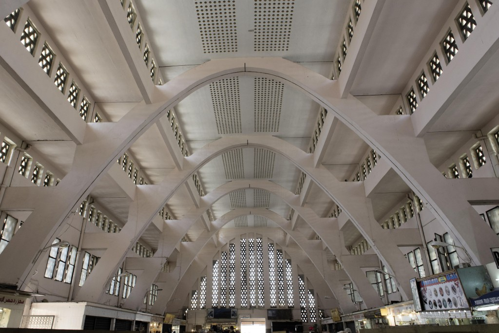 Ancien marché Michelet à Oran, construit en 1936, Georges Wolff architecte. Cliché Alice Sidoli, 2016