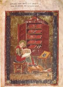 INHA-Florence-Bibliotheque-Laurentienne-Amiatinus-1-Folio-5-Armoire-dans-une-bibliotheque