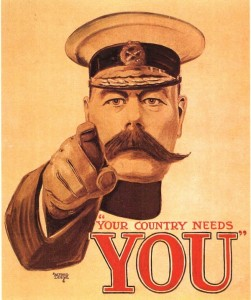 Lord Kitchener, « You country needs you », 1914, Affiche simplifié