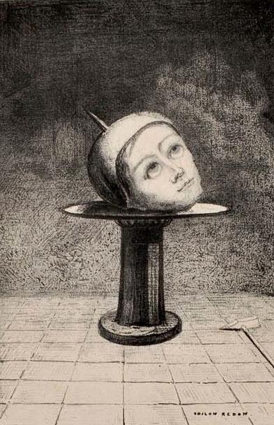 Odilon Redon, Dans le rêve, 1879, © Bibliothèque de l'INHA