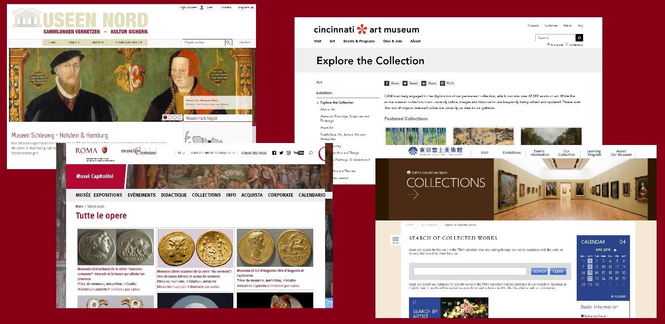Quelques bases d'images de musées étrangers, pour l'étude de